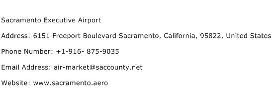 Sacramento Executive Airport Address Contact Number