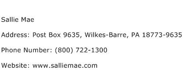 Sallie Mae Address Contact Number