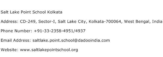Salt Lake Point School Kolkata Address Contact Number