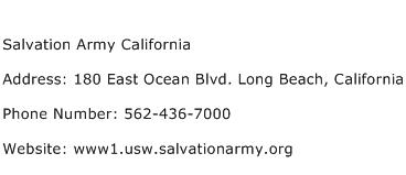 Salvation Army California Address Contact Number