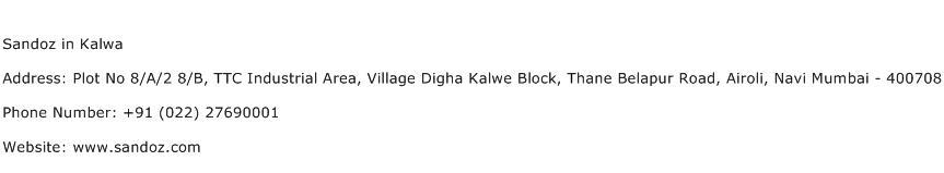 Sandoz in Kalwa Address Contact Number