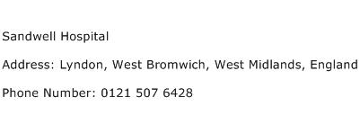 Sandwell Hospital Address Contact Number