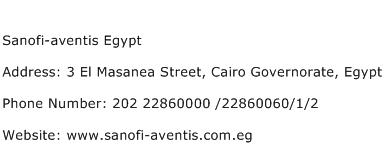Sanofi aventis Egypt Address Contact Number