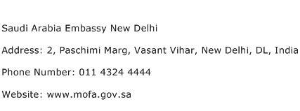 Saudi Arabia Embassy New Delhi Address Contact Number