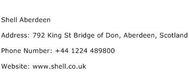 Shell Aberdeen Address Contact Number