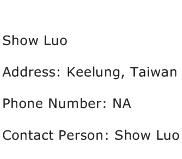 Show Luo Address Contact Number