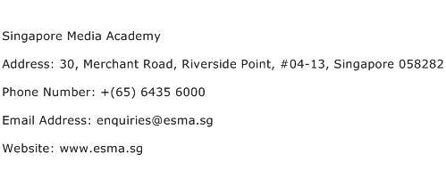 Singapore Media Academy Address Contact Number