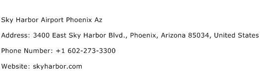 Sky Harbor Airport Phoenix Az Address Contact Number