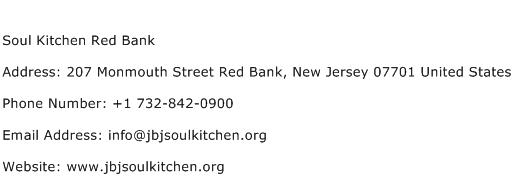 Soul Kitchen Red Bank Address Contact Number