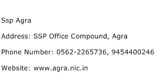 Ssp Agra Address Contact Number