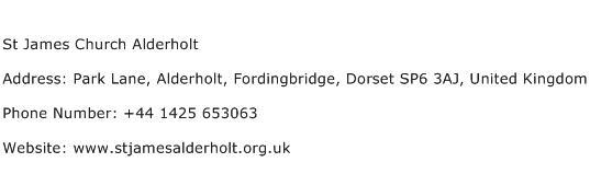 St James Church Alderholt Address Contact Number