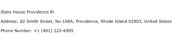 State House Providence Ri Address Contact Number