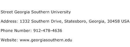 Street Georgia Southern University Address Contact Number