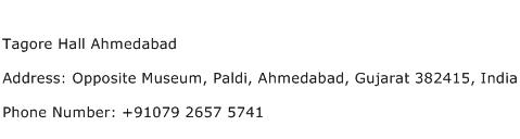 Tagore Hall Ahmedabad Address Contact Number