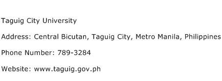 Taguig City University Address Contact Number