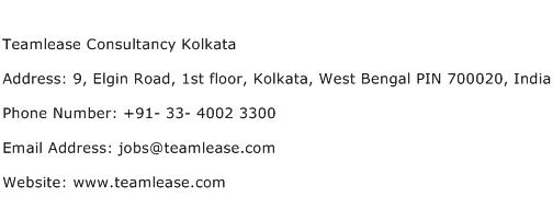 Teamlease Consultancy Kolkata Address Contact Number