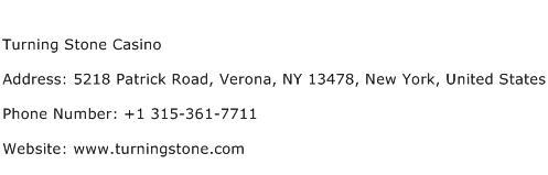 Turning Stone Casino Address Contact Number