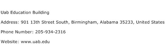 Uab Education Building Address Contact Number