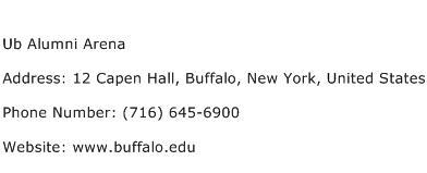 Ub Alumni Arena Address Contact Number