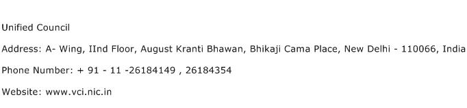 Unified Council Address Contact Number