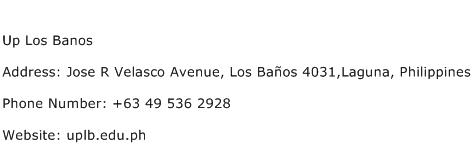 Up Los Banos Address Contact Number
