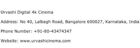 Urvashi Digital 4k Cinema Address Contact Number