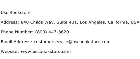 Usc Bookstore Address Contact Number