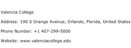 Valencia College Address Contact Number