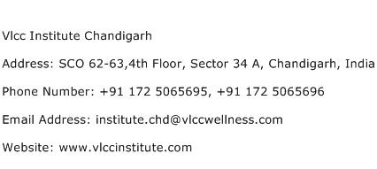 Vlcc Institute Chandigarh Address Contact Number