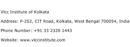 Vlcc Institute of Kolkata Address Contact Number