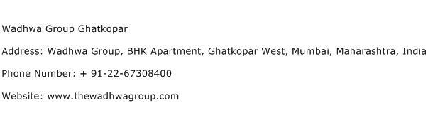 Wadhwa Group Ghatkopar Address Contact Number