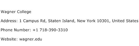 Wagner College Address Contact Number