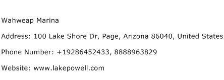 Wahweap Marina Address Contact Number
