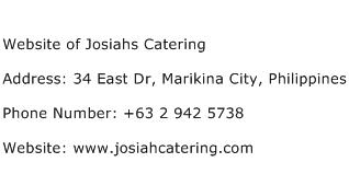 Website of Josiahs Catering Address Contact Number