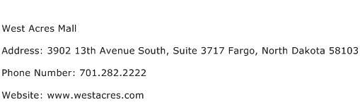 West Acres Mall Address Contact Number