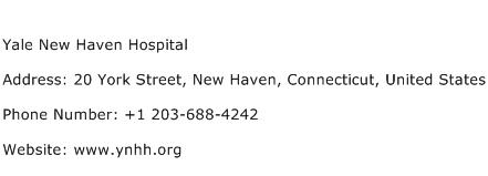 Yale New Haven Hospital Address Contact Number