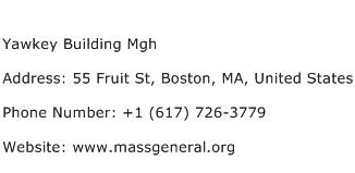 Yawkey Building Mgh Address Contact Number