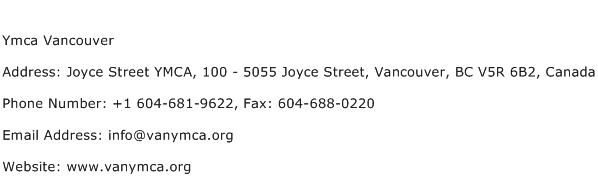Ymca Vancouver Address Contact Number
