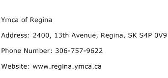 Ymca of Regina Address Contact Number